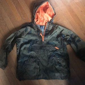 Boys Camo rain jacket